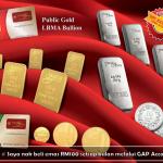 Akaun emas GAP: Simpan emas serendah RM100
