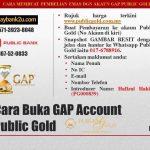 Cara buka akaun emas GAP Public Gold